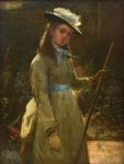 """JOHN ROBERTSON REID (ESCÓCIA, 1851-1926). """"The Gardener Girl"""", óleo s/ tela, 61 x 46. Assinado e datado (1878) no c.i.e. Reproduzido com foto no catálogo."""