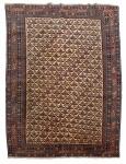 Antigo tapete Shirvan, medindo: 1,90 x 1,42 = 2,69m². Reproduzido com foto no catálogo.