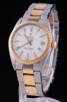 """ROLEX. Relógio masculino suíço de pulso com calendário da marca """"Rolex - Oyster Perpetual Datejust"""". Caixa e pulseira em aço e ouro. Movimento automático. Diâm. da caixa: 3cm. Funcionando."""