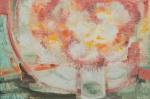 """BIANCO, ENRICO (1918-2013). """"Vaso com Flores"""", óleo s/ eucatex, 46 X 68. Assinado e datado (1968) no c.i.d."""