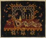 """JEAN PICART LE DOUX (1902-1982). """"Musique de Chembre"""", tapeçaria, medindo: 2,00 x 1,50 = 3,00m²."""