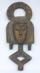 """Relicário em madeira da tribo """"Kota do Gabão"""". Alt.: 58cm. África - séc. XIX."""
