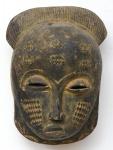 """Máscara de cerimonial em madeira da tribo """"Dinka"""" do Sudão. Alt.: 35cm. África - séc. XIX."""