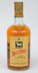 """Whisky escocês da marca """"White Horse"""" com 1,75 L. Garrafa com alça."""