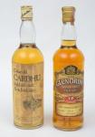 """Dois Whiskies de coleção escoceses das marcas """"Glen Ordie"""" e """"Cardhu"""" (12 anos)."""