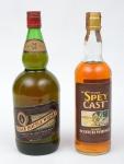"""Dois Whiskies de coleção escoceses das marcas """"Black Bottle"""" (1,2L) e """"Spey Cast""""."""