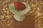 """SCLIAR, CARLOS (1920-2001). """"Fruta de Cactus"""", vinil encerado s/ tela, 37 X 56. Assinado e datado (1974) na parte inferior e no verso. Reproduzido com foto no catálogo."""