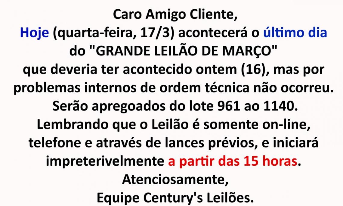 GRANDE LEILÃO DE FEVEREIRO DE 2021 - ACERVO DO EMBAIXADOR OVÍDIO DE ANDRADE MELO (1925 - 2014)